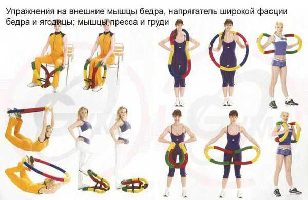 Упражнения с гибким обручем
