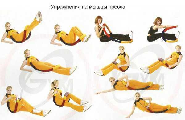 Упражнения с гибким обручем на пресс