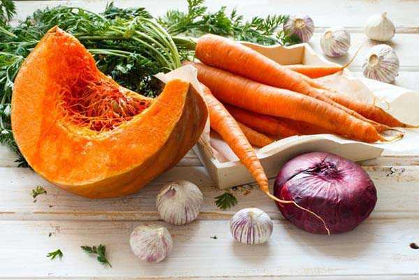 Тыква с овощами